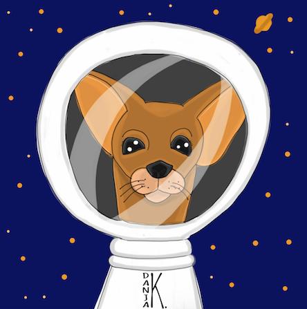 Hund im Weltall